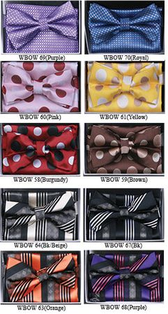 Mens Fancy Pattern Bow Tie Hanky Sets WBOW-5 - click to enlarge