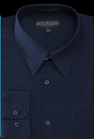 Daniel Ellissa Mens Navy Blue Dress Shirt DS3001