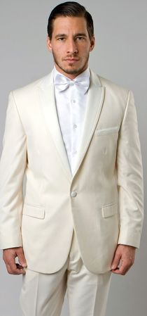 Mens Fashion Slim Fit Off White Tuxedo Peak Lapel MTI87S-07