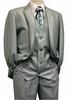 Falcone Men's Summer Mint Sharkskin Slit Vested Fashion Suit 3806-072 IS