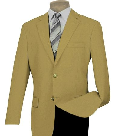 Mens Gold Blazer Painted Buttons Lucci Z-2PP