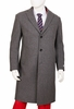 Mens Gray Wool Overcoat Regular Fit Vittorio COAT91