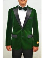 Mens Green Velvet Tuxedo Jacket Albert Velvet-Tux101 Size 6XL Final Sale