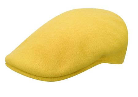 Kangol 504 Hats Mustard Color Flannel 100% Wool Mens - click to enlarge