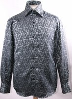 Mens High Collar Shirts Shiny DE Fancy Pattern FSS1429
