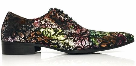 Zota Pink Green Design Print Italian Style Lace Up Shoe GF960-1