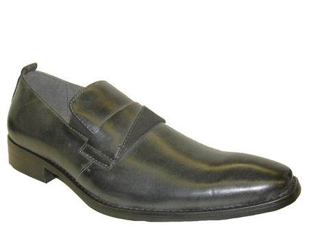 Mens High Fashion Shoes by Brutini Black Slip On Shoes B100161-8 IS