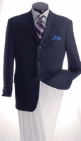Mens Navy Blazer Classic 3 Button Sport Jacket Lucci NZ-3PP