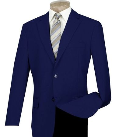 Mens Navy Blue Blazer Painted Buttons Lucci Z-2PP