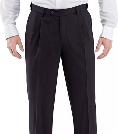 Mens Pleated Wool Dress Pants
