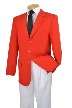 Mens Blazer Red 3 Button Sport Coat Lucci Z-3PP