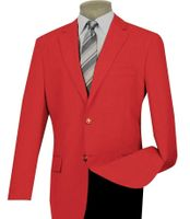 Mens Red Blazer Painted Buttons Lucci Z-2PP