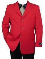 Mens Red Brass 3 Button Blazer Vittorio Z73TA Size 38L Final Sale