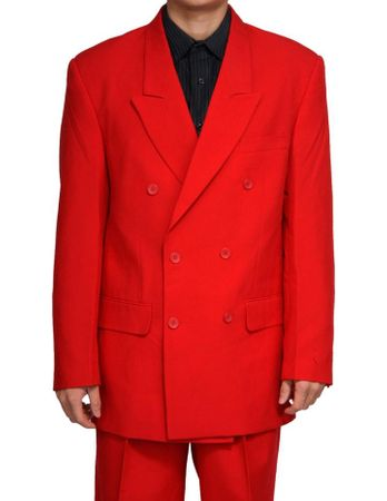 Mens Red Double Breasted Suit Vittorio C762TA Size 42S Final Sale