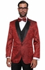 Mens Red Paisley Tuxedo Suit Jacket Blazer Paisley-200