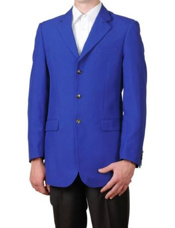 Mens Royal Blue 3 Button Blazer Traditional Sport Coat Lucci NZ-3PP