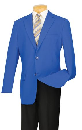 Blazer for Men Royal Blue Sport Coat Lucci Z-2PP