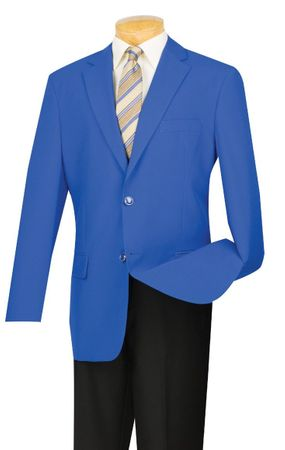 Mens Royal Blue Blazer Painted Buttons Z-2PP