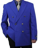Vittorio Mens Royal Blue Double Breasted Classic Blazer Z76B Size 54L Final Sale