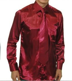 Mens Satin Dress Shirts
