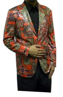 Pronti Mens Fancy Style Blazers Red Pattern B6195 Final Sale