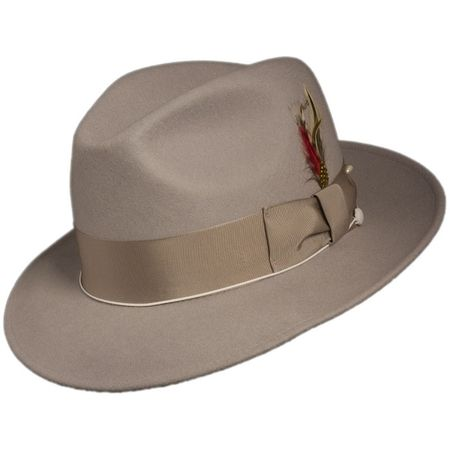 1130f941e63 Mens Silver Fedora Hat 100% Wool Untouchable Dress Hat 8345