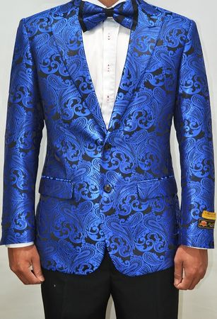 Mens Royal Paisley Blazer Dinner Jacket Alberto Paisley-100 #3