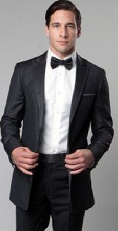 Mens Slim Fit Fashion Tuxedo Dark Grey MT187S-03