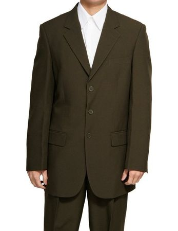Milano 2 Piece Chocolate Brown 3 Button Suit 802P - click to enlarge