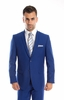 Mens Suits Indigo Blue 2 Piece Flat Front Pants Side Vents Tazio M202-10