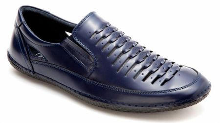 Mens Summer Casual Shoes by Montique Navy Blue S18 Size 11