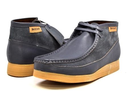 British Walkers Gray Leather Suede Men Newcastle