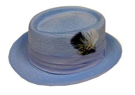 Mens Summer Light Blue Straw Hat Capas PC300