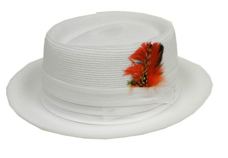 Mens Summer Straw Fashion Hats White PC300 Size M,L