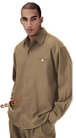 Mens Tan Dress Outfits Long Sleeve Milano L2612