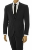 Men's Ultra Slim Fit Suit Tight Black 3 Piece Stretchy Fabric US631V
