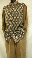 Cellangino Mens Walking Suits Brown Diamond Knit Front MS1303