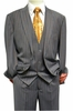 Steven Land Mens Gray Rust Stripe 3 Piece Suit Henry SL77-136 IS