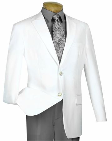 Blazer for Men White Sport Coat Lucci Z-2PP