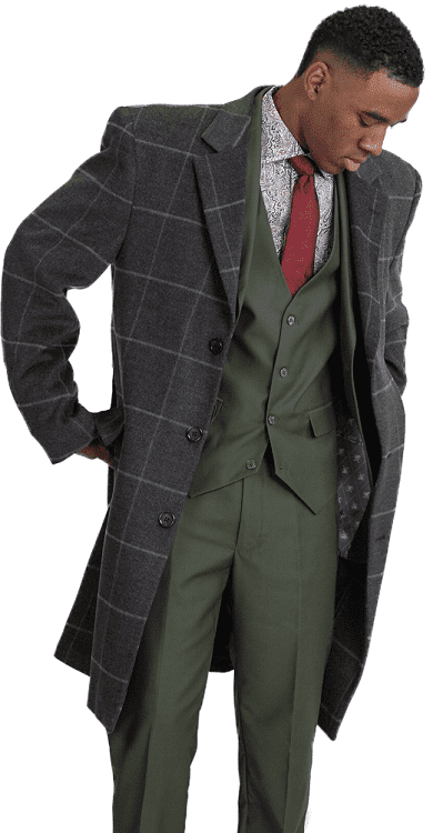 Mens Wool Overcoat | Mens Wool Topcoats | Contempo Suits