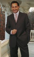 Men's Classy Italian Wool Suit Charcoal 3 Button Classic Cut Alberto 3BVP-1 2pc