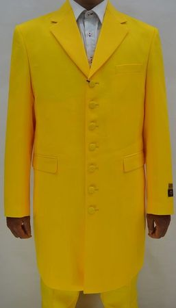 Mens Yellow Zoot Suit 3 Piece Long Jacket Alberto Nardoni Zoot-100 - click to enlarge