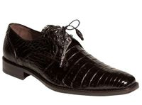 Mezlan Black Crocodile Shoes Anderson 13584-F