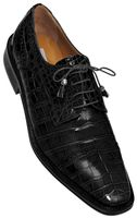 Alligator Shoes Ferrini Mens Black Cap Toe Style 216