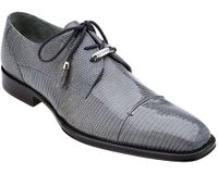 Belvedere Mens Gray Teju Lizard Skin Shoes Karmelo 1497