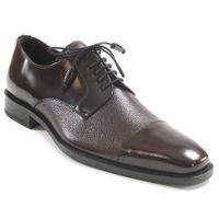 Mezlan Dress Shoes Burgundy Designer Cap Toe Soka