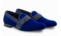 Mezlan Mens Blue Velvet Loafer Formal Slip On Palance