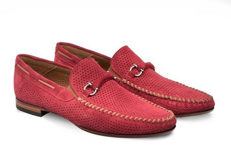 Mezlan Shoes Marcello Men's Red Suede Moccasin Loafer