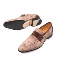 Mezlan Shoes Jordi Men's Taupe Suede Penny Loafer 9036
