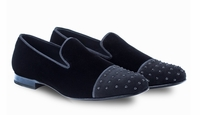 Mezlan Loafers Mens Black Velvet Cap Formal Abel